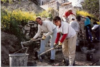 Stuart Fried and fellow chevre hard at work