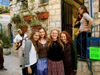 Rivka and some Chevre outside of Livnot
