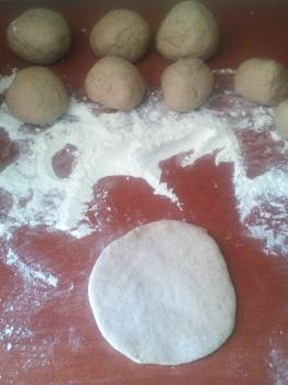 Rolling Pita Bread
