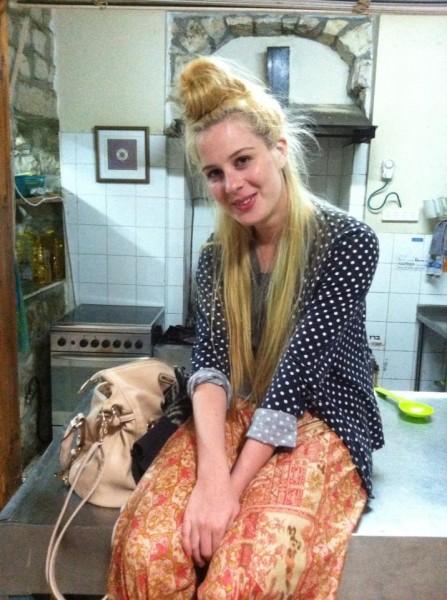Simone in Livnot kitchen