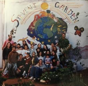 Livnot Tzfat mural Steven's Garden
