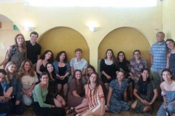 A Group of Chevre after Shabbat